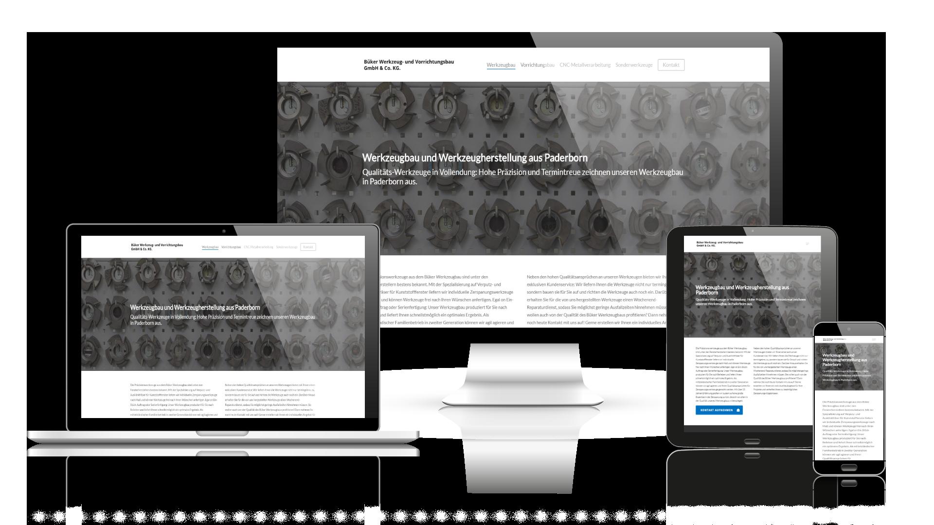 Webdesign Referenz Werkzeugbau Büker