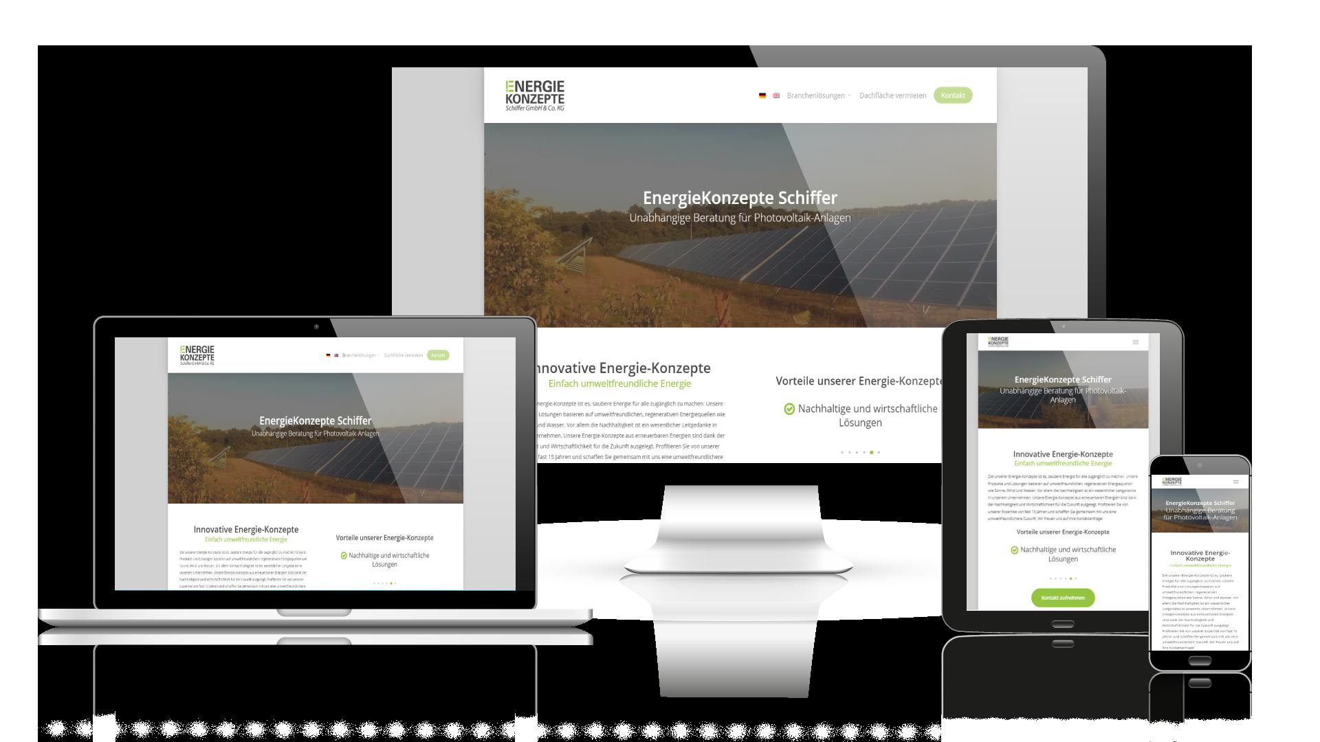 Webdesign Referenz Werkzeugbau EnergieKonzepte Schiffer